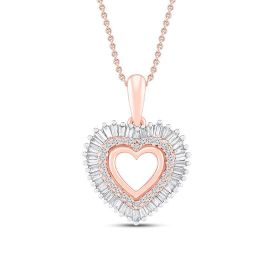 Picture of Diamond Heart Pendant Necklace